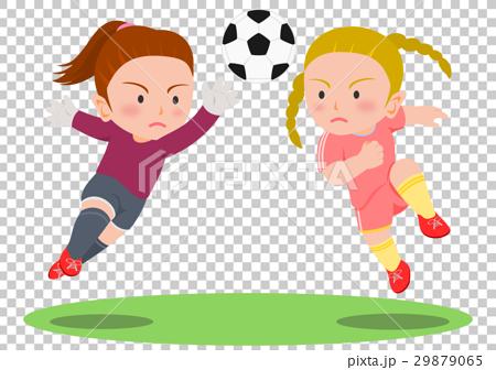 サッカー 競り合い 女子 29879065
