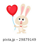 Cute and funny rabbit, bunny holding red heart 29879149