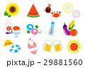 夏のイメージアイコン(手描き) 29881560