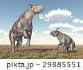 Adult Paraceratherium and baby Paraceratherium 29885551