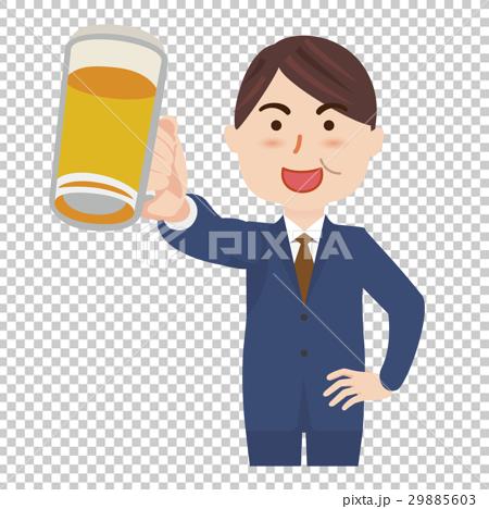 ビジネスマン ビール 29885603