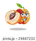 Peach Cartoon with kid seed vector 29887232