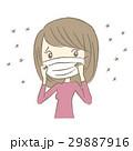 女性 花粉症 マスクのイラスト 29887916