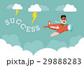 Entrepreneurship with airplane along thunder storm 29888283