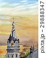 函館港の夕景 スケッチ画 29888347