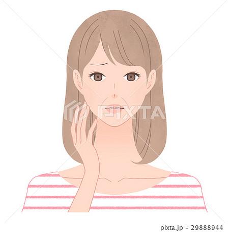 ほうれい線に悩む女性 29888944