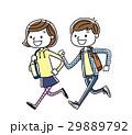 学生 男の子 女の子のイラスト 29889792
