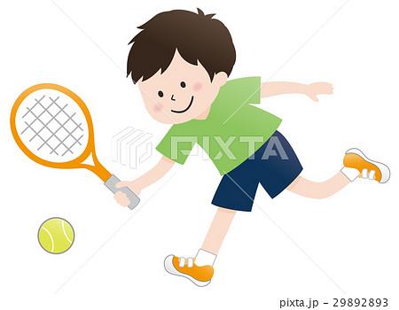 テニスをする少年 29892893