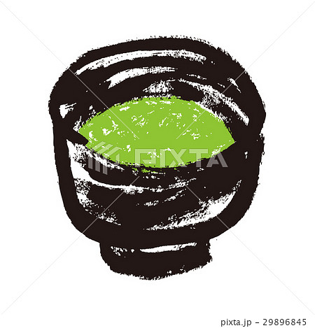 抹茶 茶碗 茶道 水彩画 29896845