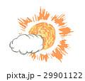 雲と太陽のイラスト 29901122