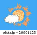 雲と太陽のイラスト 29901123