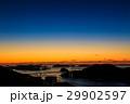 鍋冠山から女神大橋の日没後夜景 29902597