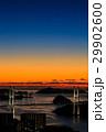 女神大橋 大橋 夕景の写真 29902600