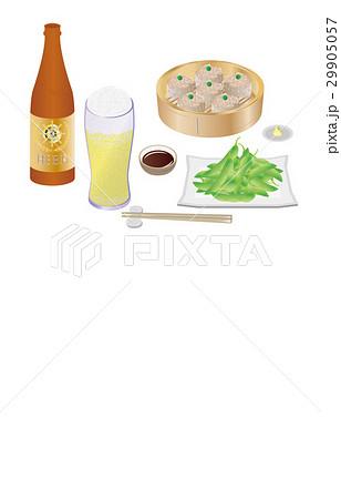 今日の晩酌ビールと枝豆のイラスト素材 [29905057] - PIXTA