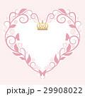 ハートフレームのビンテージカード 29908022