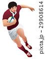 ラガーマン ラグビーボール 闘球のイラスト 29908614