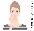 女性 シミ 悩むのイラスト 29913179
