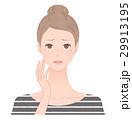 女性 顔 そばかすのイラスト 29913195