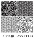 Black and White Seamless Pattern with Roses.  29914413