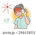 熱中症・シニアの女性 29915653