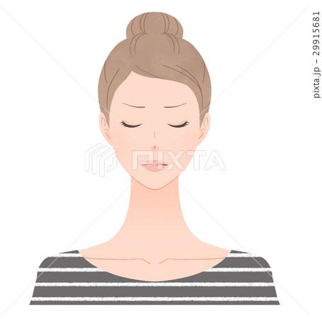 目を閉じた女性 怒る 29915681