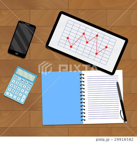 Infochart report on tabletのイラスト素材 [29916582] - PIXTA