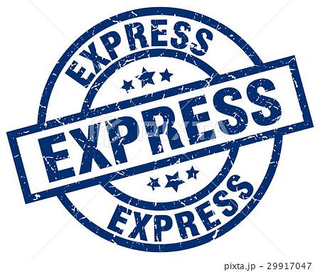 express blue round grunge stamp 29917047