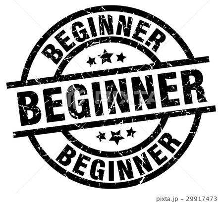 beginner round grunge black stamp 29917473