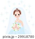新婦 ブライダル 花嫁のイラスト 29918780