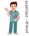 スクラブ 医師 医者のイラスト 29918976
