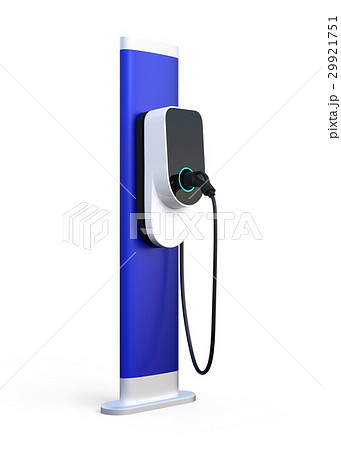 白バックにある充電スタンドのイメージ。オリジナルデザイン。 29921751