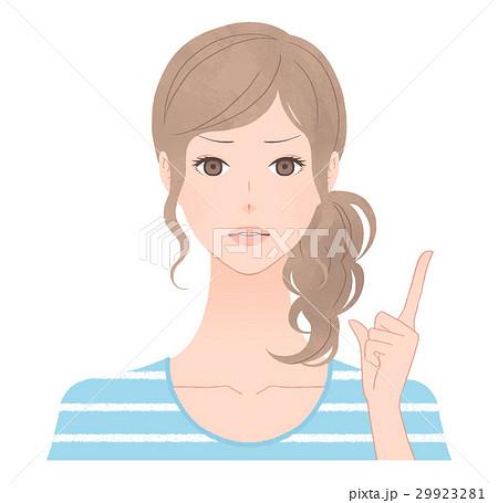 厳しい表情の女性 29923281