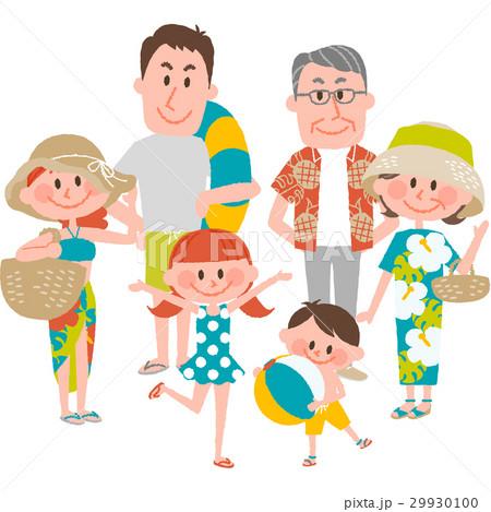 家族で海辺のバカンス 29930100