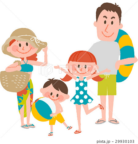 家族で海辺のバカンス 29930103