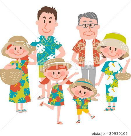 家族で海辺のバカンス 29930105