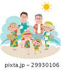 家族 バカンス 夏休みのイラスト 29930106