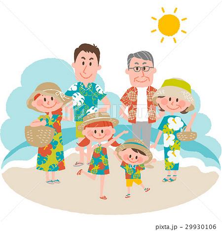 家族で海辺のバカンス 29930106