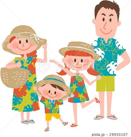 家族で海辺のバカンス 29930107