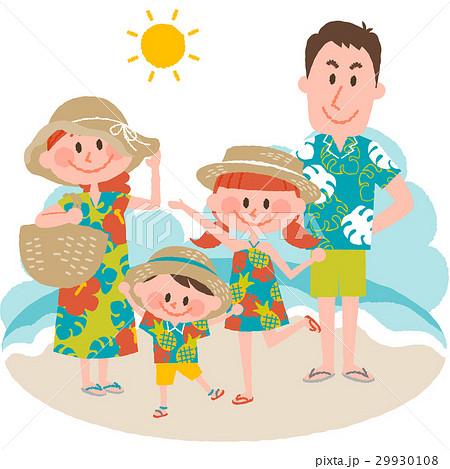 家族で海辺のバカンス 29930108