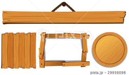 Different templates for wooden boardのイラスト素材 [29936098] - PIXTA
