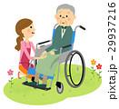 高齢者 車椅子 介護のイラスト 29937216