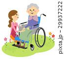 高齢者 車椅子 介護のイラスト 29937222