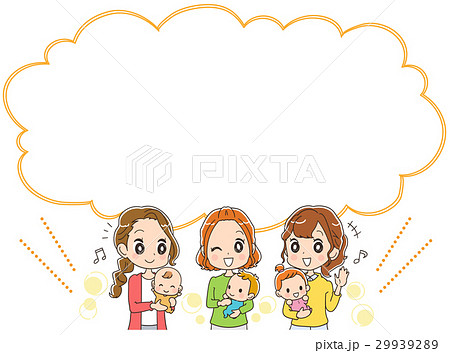子育てママとふきだしのイラスト 29939289