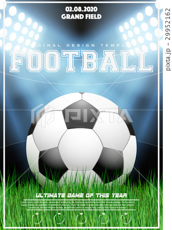 poster template of football tournamentのイラスト素材 29952162 pixta