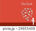 ベクター フィンテック テクノロジーのイラスト 29955409