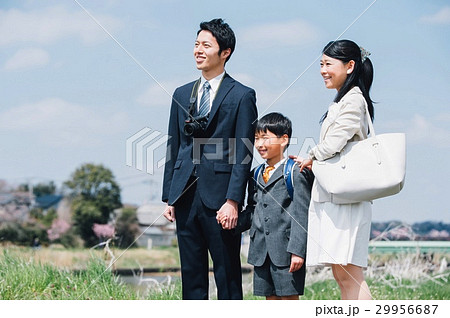 入学式 新一年生と家族 29956687