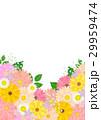 花 背景 ガーベラのイラスト 29959474