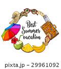 夏 ビーチ ベクトルのイラスト 29961092