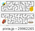 Maze game: Help bee and  eagle to find the way 29962265