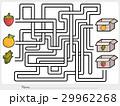 Maze game: Pick fruits box - worksheet 29962268